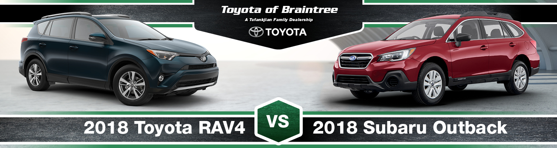 2018 Toyota RAV4 vs. 2018 Subaru Outback