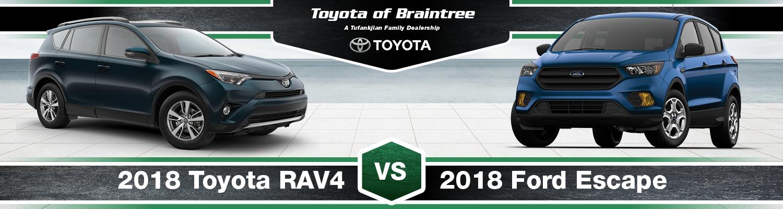2018 Toyota RAV4 vs. 2018 Ford Escape