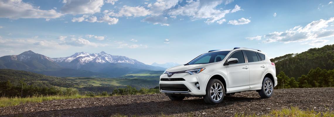 2017 Toyota RAV4 Parked Near Mountains