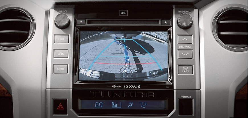 Back-up assist camera in a Toyota Tundra