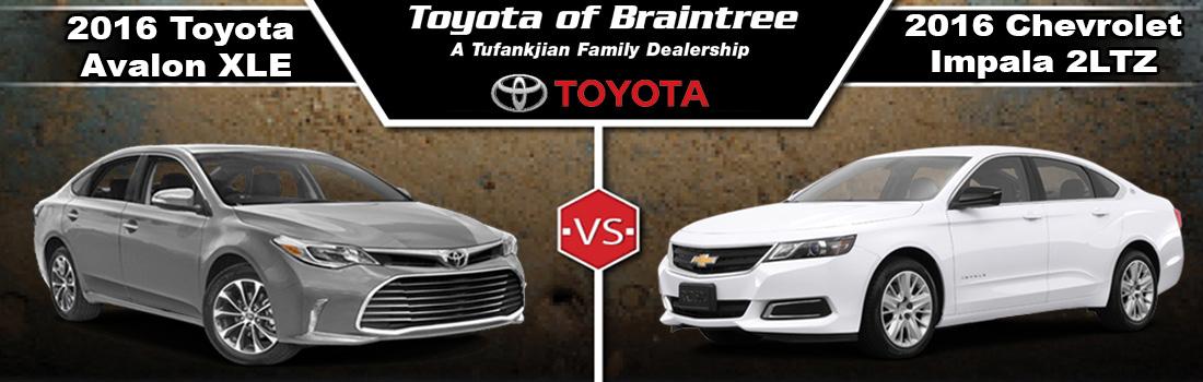 2016 Toyota Avalon Vs Chevy Impala In Braintree