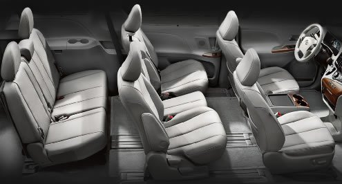 Sienna 8-passenger seating