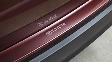 Toyota rear bumper applique