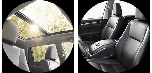 Highlander interior - sunroof, 7-passenger seating