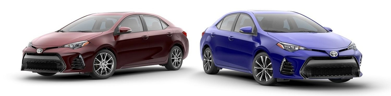 Corollas side-by-side
